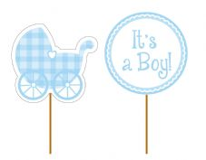 'It's a Boy!' Cupcake Toppers